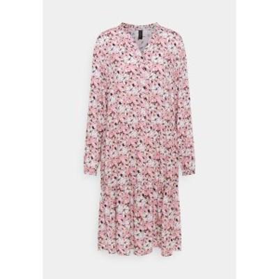 ソヤコンセプト レディース ワンピース トップス OPHIRA - Day dress - dark pink rose combi dark pink rose combi