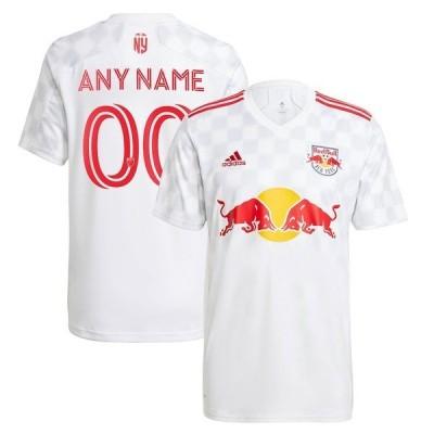 アディダス メンズ Tシャツ トップス New York Red Bulls adidas 2021 1Beat Replica Custom Jersey