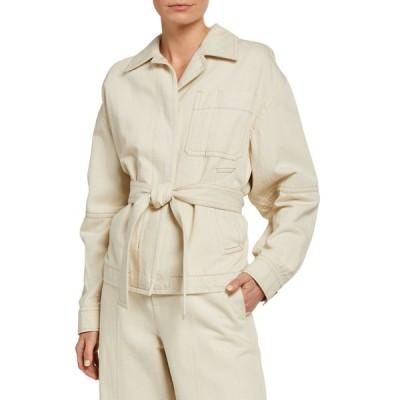 ヴィンス レディース ジャケット・ブルゾン アウター Cotton-Blend Belted Utility Jacket