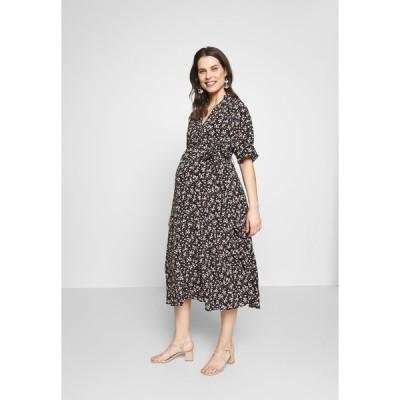 グラマラス ブルーム ワンピース レディース トップス LOOK SHORT SLEEVE MIDI DRESS - Day dress - black