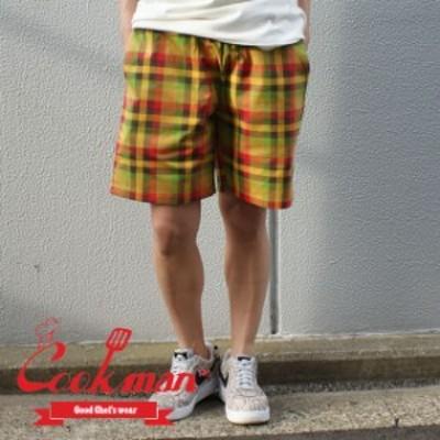 【ノベルティプレゼント中!!】 新品 クックマン Cookman Chef Short Pants シェフパンツ ショーツ ショートパンツ BURGER CHECK パンツ