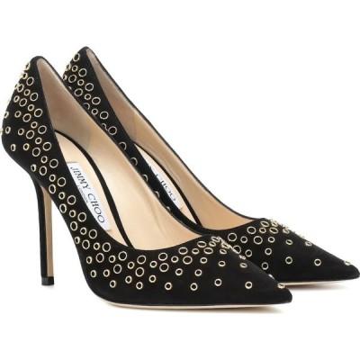ジミー チュウ Jimmy Choo レディース パンプス シューズ・靴 love 100 embellished suede pumps Black/Gold