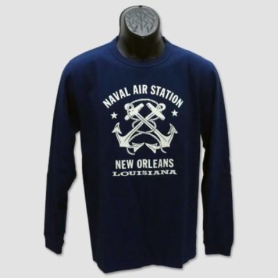 """バズ・リクソン BUZZ RICKSON'S 長袖ミリタリーTシャツ """"NAVAL AIR STATION"""" BR68383"""