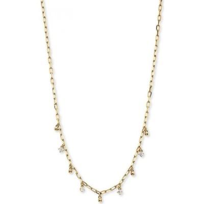 """ナドリ AVA NADRI ユニセックス ネックレス ジュエリー・アクセサリー Cubic Zirconia & Bead Shaky Charm Necklace, 14"""" + 1"""" extender Gold"""