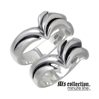 エムズコレクション M's collection ミニッツライン シルバー ペア リング 指輪
