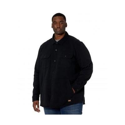 Timberland PRO ティンバーランド メンズ 男性用 ファッション ボタンシャツ Extended Mill River Fleece Shirt Jacket - Jet Black