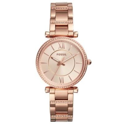 フォッシル レディース 腕時計 アクセサリー Women's Carlie Rose Gold-Tone Stainless Steel Bracelet Watch 35mm