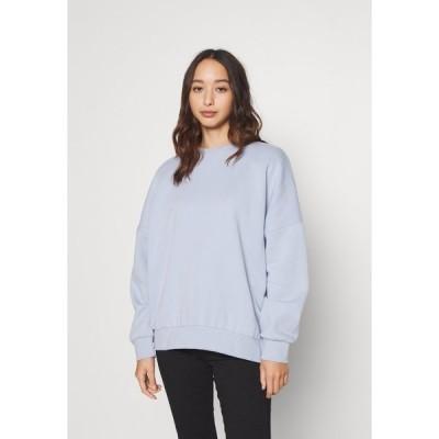 エブンアンドオッド パーカー・スウェットシャツ レディース アウター OVERSIZED CREW NECK SWEATSHIRT - Sweatshirt - light blue