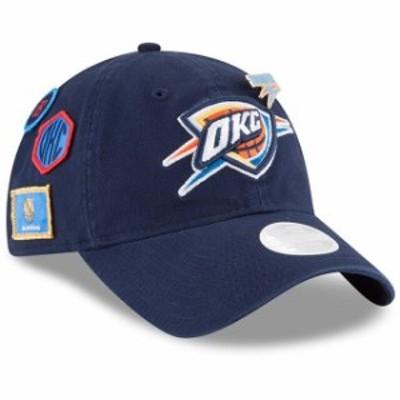 New Era ニュー エラ スポーツ用品  New Era Oklahoma City Thunder Womens Navy 2018 Draft 9TWENTY Adjustable Hat