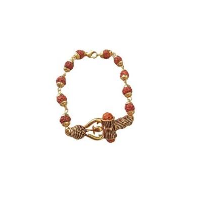 Hijet Exclusive Rudraksha Bead Chain, Leather Belt Bracelet For Men's Or Bo