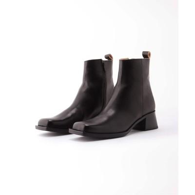 レディース シティショップ 【MAISON EUREKA/メゾン・エウレカ】CHUNKY SQUARE 2WAY THIGH :ブーツ ブラック 36