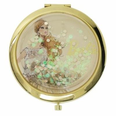 バービー 手鏡 コンパクトミラー ハート&ラメBG Barbie ギフト雑貨 キャラクター グッズ メール便可