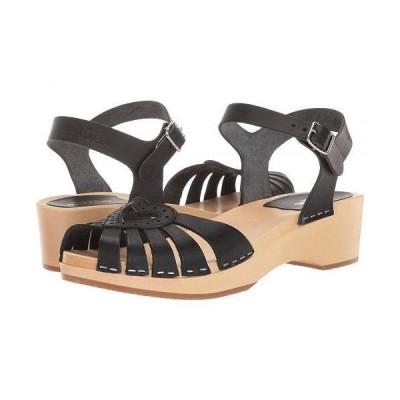 Swedish Hasbeens スウェディッシュハズビーンズ レディース 女性用 シューズ 靴 ヒール Heart Medallion Debutant - Black