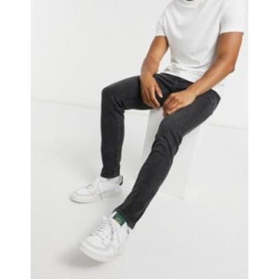 リーバイス メンズ デニムパンツ ボトムス Levi's 510 skinny fit jeans in washed black Black