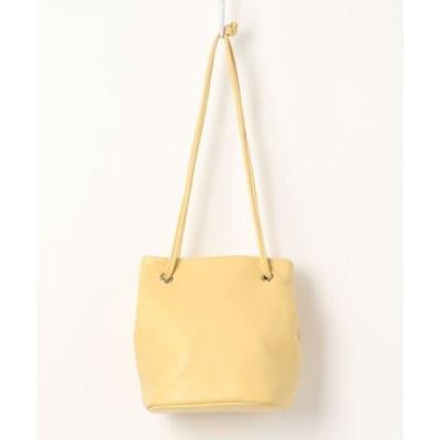 バッグ ハンドバッグ フェイクレザー巾着バッグ