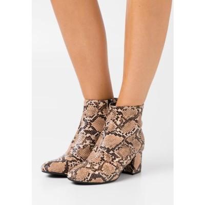 レディース 靴 シューズ EVIE WIDE - Ankle boots - beige
