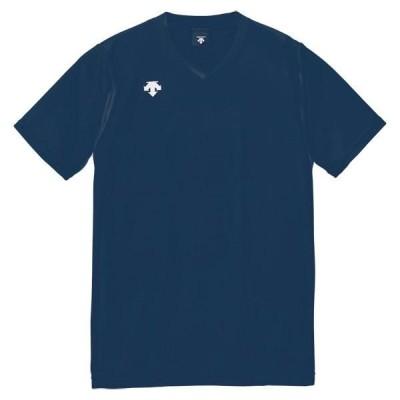 DESCENTE バレー V首半袖ゲームシャツ(ユニセックス) DSS-4321 16SS ネイビー ケームシャツ・パンツ(dss4321-nvy)