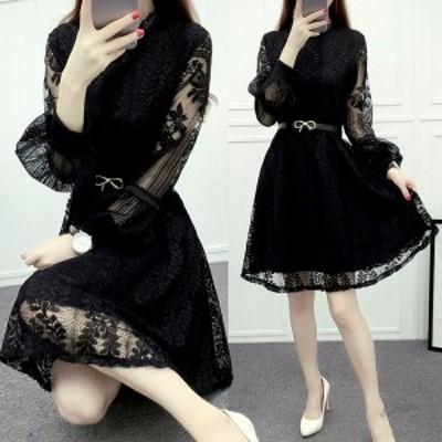 パーティードレス 結婚式 二次会 お呼ばれ ワンピース ミニ丈 袖あり 大きいサイズ お呼ばれ ドレス 20代 30代 40代