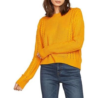ボルコム Volcom レディース ニット・セーター トップス Cable Bodied Sweater Gold