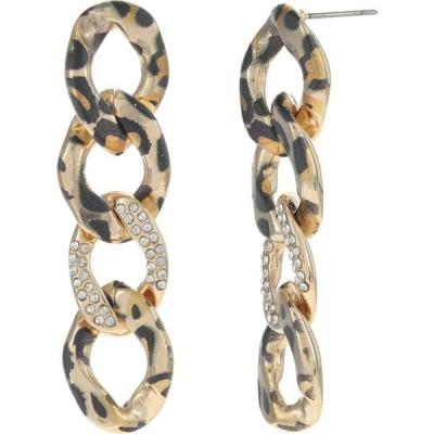 ベッツィ ジョンソン Betsey Johnson レディース イヤリング・ピアス ジュエリー・アクセサリー Leopard Chain Linear Earrings Crystal