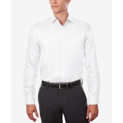 マイケル コース Michael Kors メンズ シャツ トップス Regular Fit Airsoft Stretch Non-Iron Performance Solid Dress Shirt White