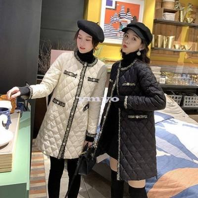 ロング中綿コート コート レディース 冬 アウター ロング丈 ロングジャケット 中綿コート ゆったり 暖かい 体型カバー 大きいサイズ ロング丈 体型カバー 防寒