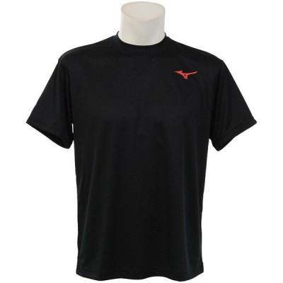MIZUNO ミズノ 20SS ロゴTシャツ 62JA0Z0196 ラケットスポーツ アパレル ブラックxレッド