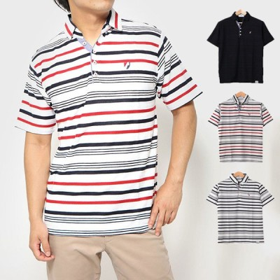 ポロシャツ カットソー 半袖 おしゃれ ゴルフ スポーツ ボーダー ワンポイント 刺繍 スキッパー ユニセックス トップス メンズ