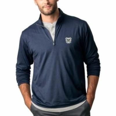 Vantage Apparel バンテージ アパレル スポーツ用品  Butler Bulldogs Navy Zen 1/4-Zip Pullover Jacket