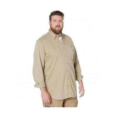 Carhartt カーハート メンズ 男性用 ファッション ボタンシャツ Big & Tall Flame-Resistant Force Cotton Hybrid Shirt - Khaki