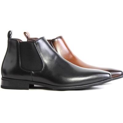 FRANCO GIOVANNI フランコジョバンニ FG1365 メンズ ビジネス チャッカ ブーツ サイドゴア 靴