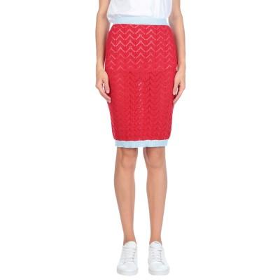 オージュールルジュール AU JOUR LE JOUR ひざ丈スカート レッド 38 コットン 100% ひざ丈スカート