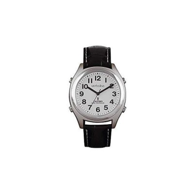 Verbalise Precision Radio Controlled Medication Reminder Talking Watch with Black Leather Strap 並行輸入品