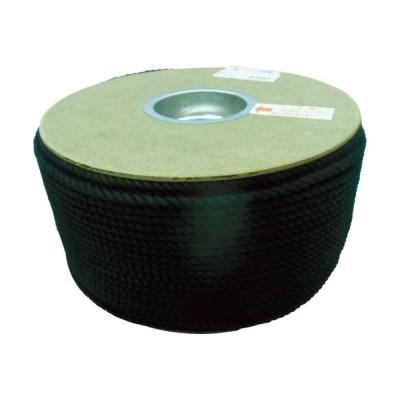 ユタカメイク tr-7541406 ポリエステルロープ ドラム巻 5φ×200m 黒 (tr7541406)