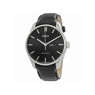 Mido Men's Belluna II 42.5mm Black Leather Band Steel Case Automatic Analog Watch M024.630.16.051.00 並行輸入品