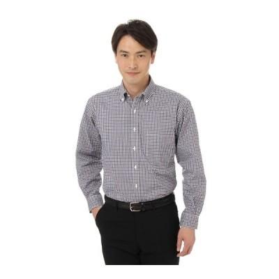 オールシーズン用 パープル系 ボタンダウンカジュアルシャツ CHRISTIAN ORANI
