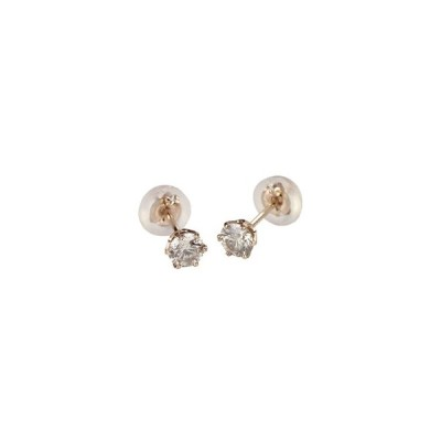 Jewelry Collection  K18ピンクゴールドダイヤモンドピアス 0.3ct 【専用BOX付】 DVTFN30PGD