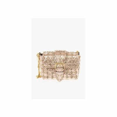 RED VALENTINO/レッド ヴァレンティノ Gold レディース Metallic Soft Leather Mini Shoulder Bag with Floral Applicat dk