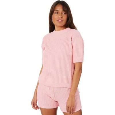 リュー スティック Rue stiic レディース ニット・セーター トップス pamela knit tee Pink