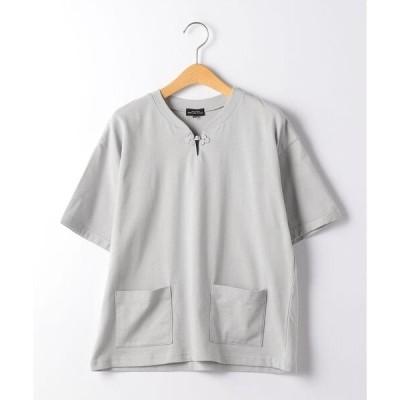 tシャツ Tシャツ 【ジュニア】TJ チャイナボタン TEE