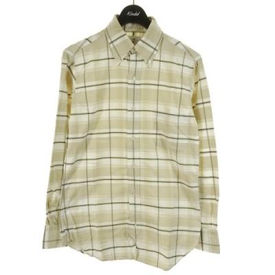 【5月11日値下】BLACK FLEECE BY Brooks Brothers チェックBDシャツ ベージュ×ホワイト サイズ:BB0 (和歌山店)