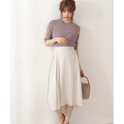 スカート サイドボリュームカラーフレアスカート
