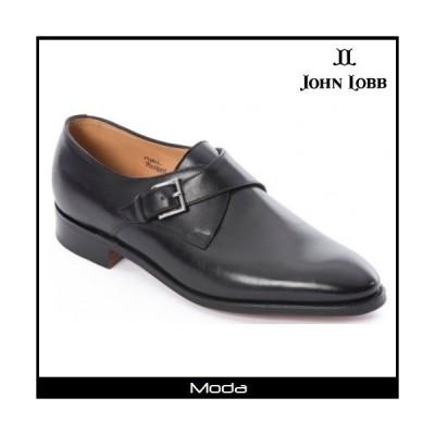 John Lobb ジョンロブ モンク ミスティブラック カーフ シューズ 靴