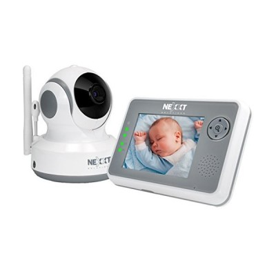 "新品Nexxt Solutions RooMate Wireless Digital Baby Monitor | Pan/Tilt/Zoom Function and 3.5"" LCD Screen Control Monitor 