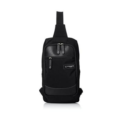 [ヒロコ コシノ オム] ボディバッグ 8インチタブレット対応 ベルト左右切り替え可能 ブラック