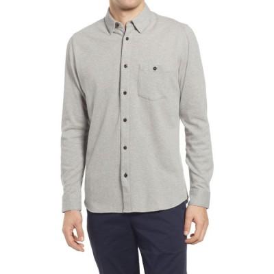 テッドベーカー TED BAKER LONDON メンズ シャツ トップス Morty Knit Button-Up Shirt Grey Marl