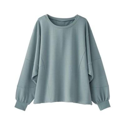 tシャツ Tシャツ 裏毛素材ボリューム袖プルオーバー