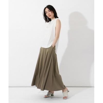 【LASUD】 [Aga×NORITAKE] 切り替えデザイン ロングスカート レディース ベージュ M LASUD