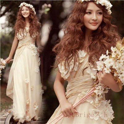 ウェディングドレス 二次会 ウエディングドレス ロング 二次会ドレス パーティードレス ゲストドレスロングドレス 花嫁ドレス  大きいサイズ 結婚式