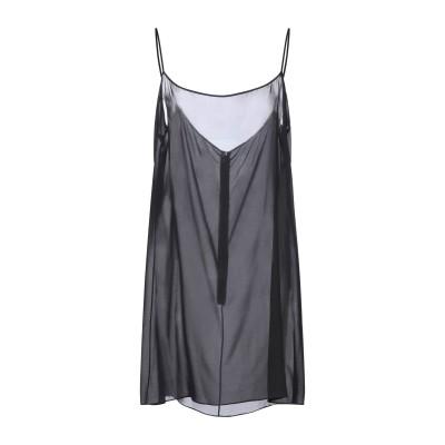 ヴァレンティノ VALENTINO ミニワンピース&ドレス ブラック 48 シルク 91% / ポリウレタン 9% ミニワンピース&ドレス